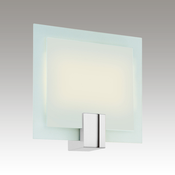 3682.01F Dakota Fluorescent Mount Polished Chrome Square