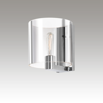 3690.01C Delano Sconce Polished Chrome w/Clear Glass