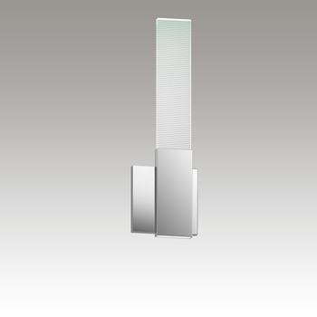 3810.01 Radiant Lines LED Sconce w/Downlight Polished Chrome