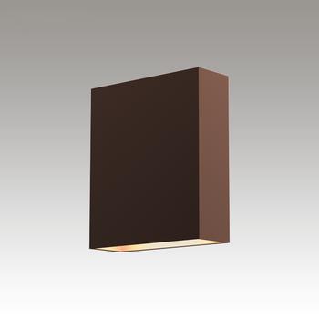 Flat box led sconce