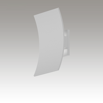 Curved Shield LED Sconce Gray SIlo Image