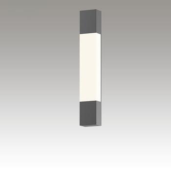 Box Column LED Sconce Gray SIlo Image