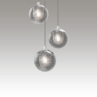 Champagne Bubbles LED Pendant Gray SIlo Image