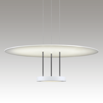 Chromaglo Bright White LED Pendant Gray SIlo Image