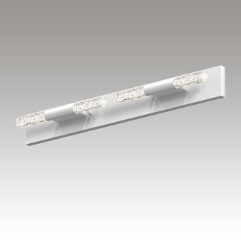Crystal Rods LED Bath Bar Gray SIlo Image