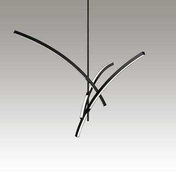 Gestures 3-Arm LED Pendant Gray SIlo Image