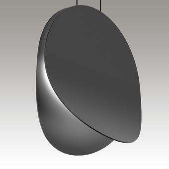 Malibu Discs LED Pendant Gray SIlo Image