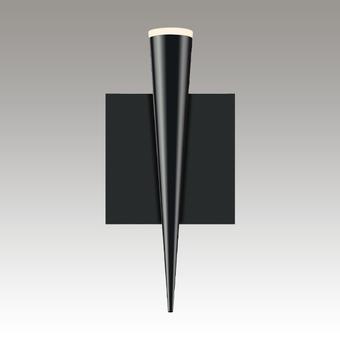 Micro Cone LED Sconce Gray SIlo Image