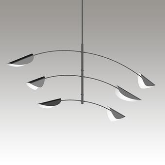 Movile LED Pendant Gray SIlo Image