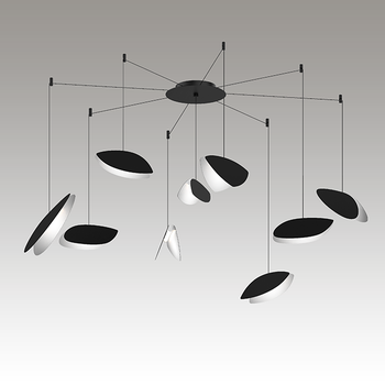 Papillons LED Pendant Gray SIlo Image
