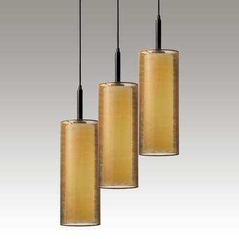 Puri 3-Light Pendant Gray SIlo Image