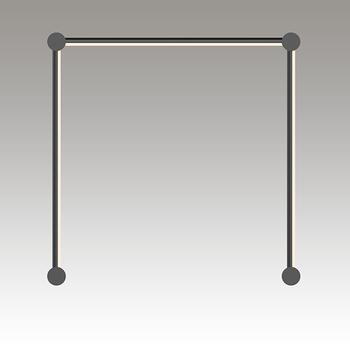 Purolinear 360 LED Wall Bar Gray SIlo Image