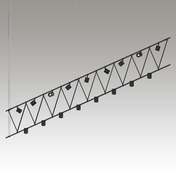 SLS1143 Suspenders 14' Flat Truss w/ Power Precise Direct Mount Cylinders + Power Precise Bar-Mounted Aimable Cyls Satin Black