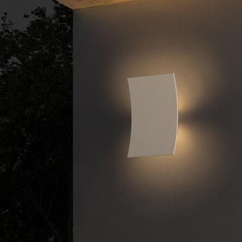 Curved Shield LED Sconce
