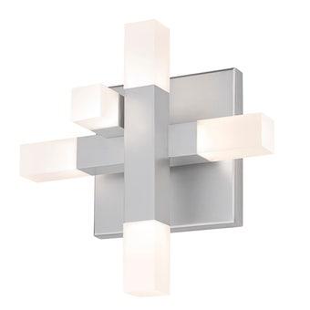 2110.16 Connetix LED Sconce Bright Satin Aluminum White Silo Image