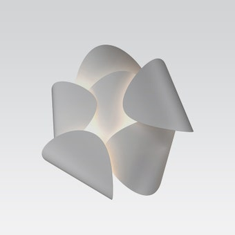 2640.03 Lotus LED Sconce Satin White Gray SIlo Image