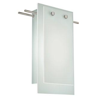 3210.13LED Suspended Glass Slim LED Sconce Satin Nickel White Silo Image