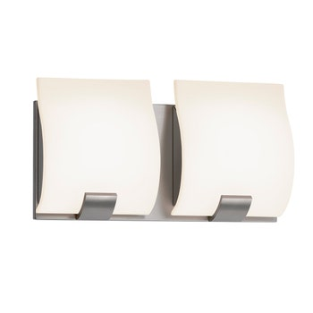 3882.13 Aquo Bath Bar 2-Light Satin Nickel White Silo Image