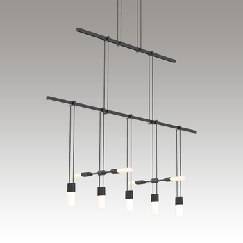 """Suspenders 36"""" 2-Tier Linear with Etched Chiclet Luminaire Combo"""