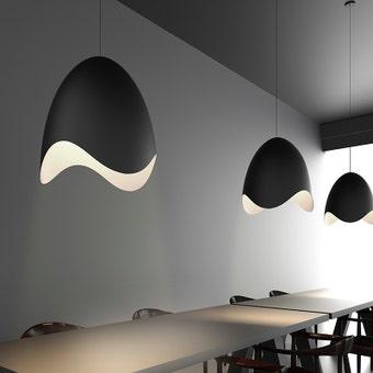 Waveforms Bell LED Pendant