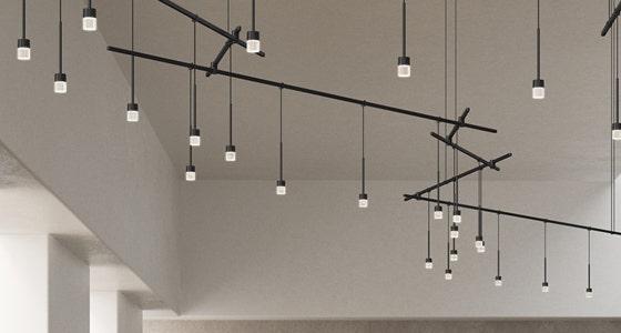 Sonneman Suspenders Free Form Living Room