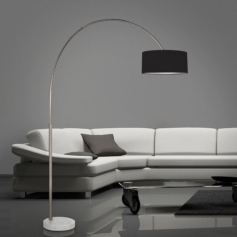 sonneman Arc Shade Floor Lamp living room