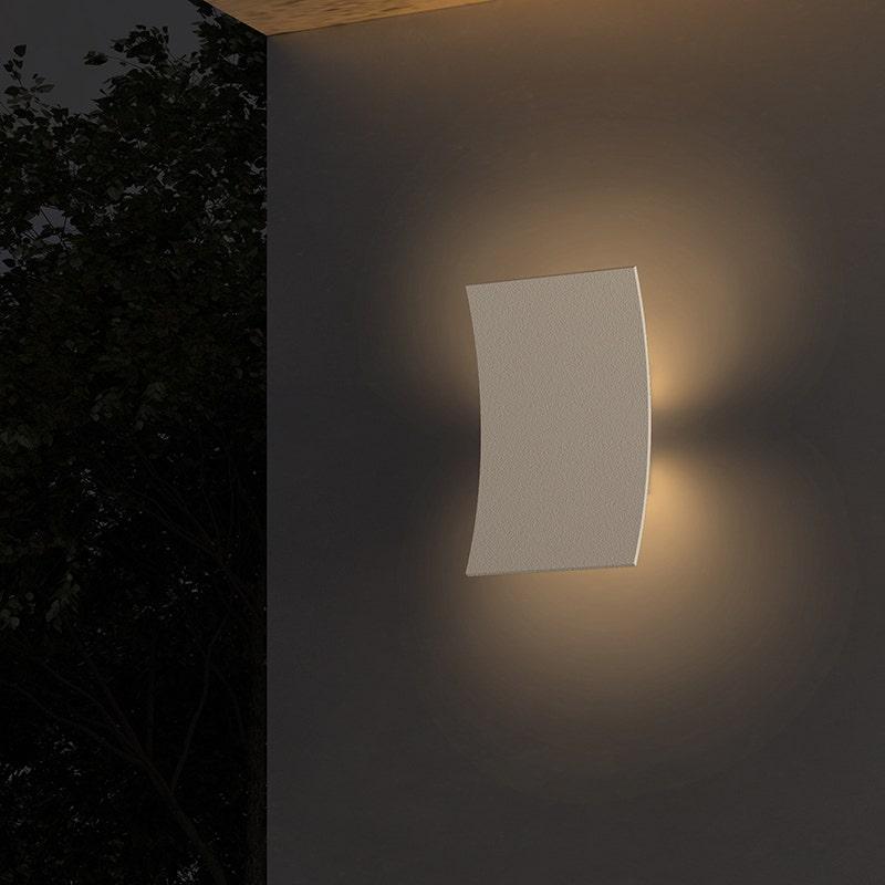 sonneman curved led sconce outdoor