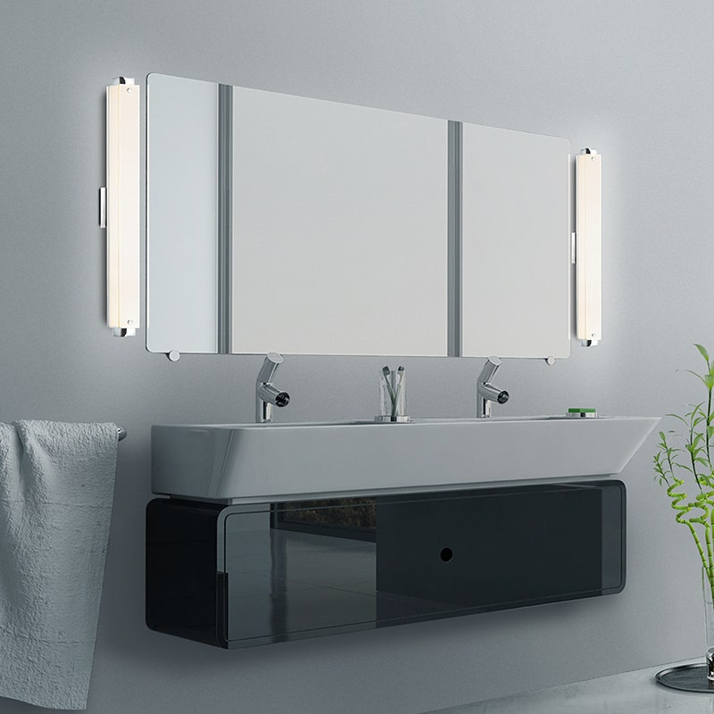 sonneman Parallel LED Bath Bar bathroom