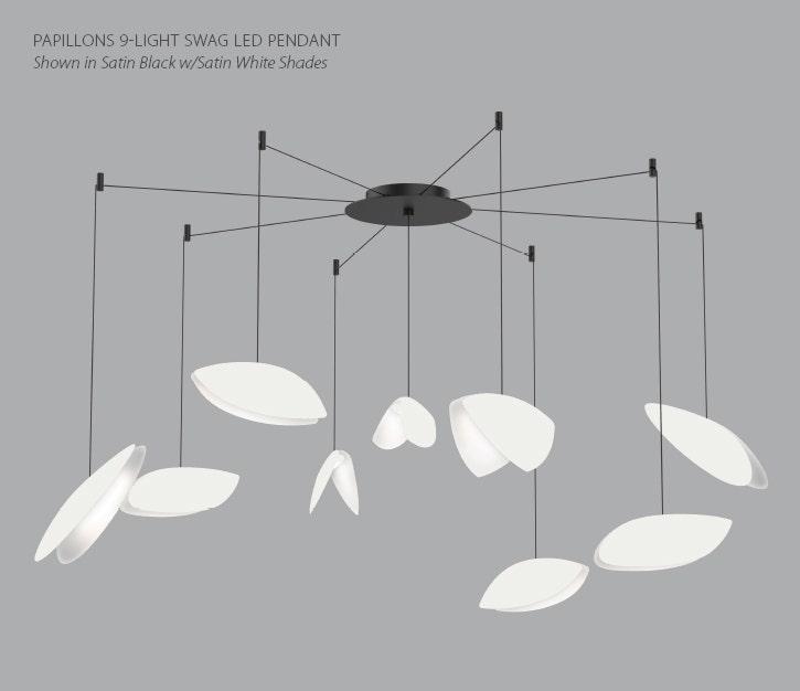 Sonneman Papillons LED 9 Light SWAG Pendant