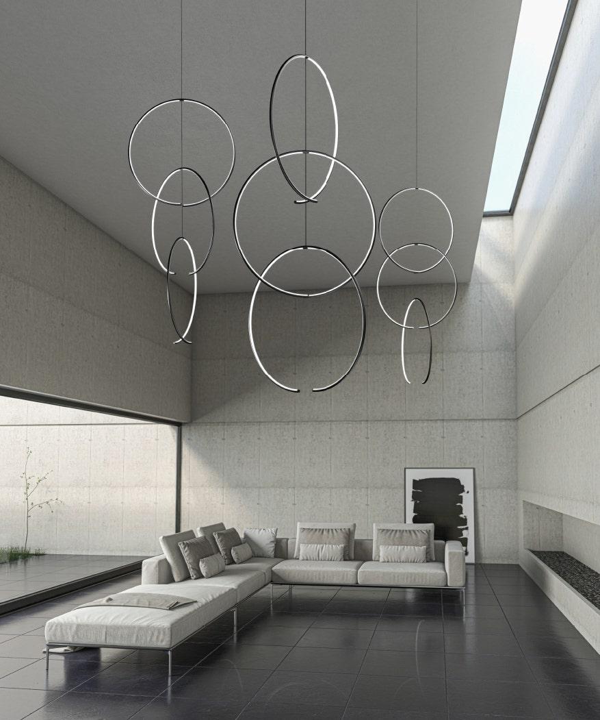 Sonneman Torc LED Pendant Living Room