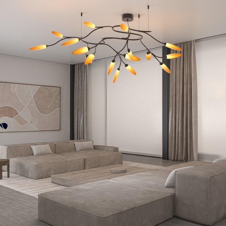 Sonneman Vines Semi-Flush Mount Livingroom