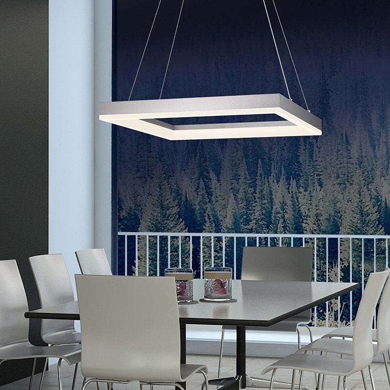 Sonneman corona square LED Pendant dining room