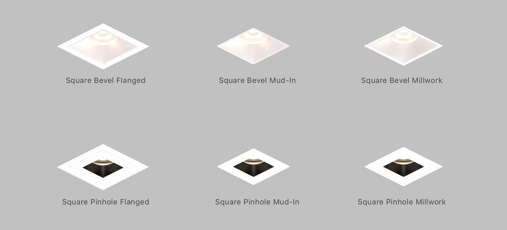 Sonneman Intervals Square Fixed 4 Inch Trim options