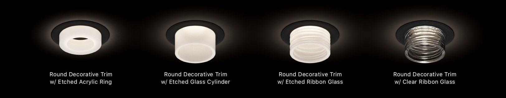"""Sonneman Intervals 2"""" Fixed Round Decorative Trim Options"""