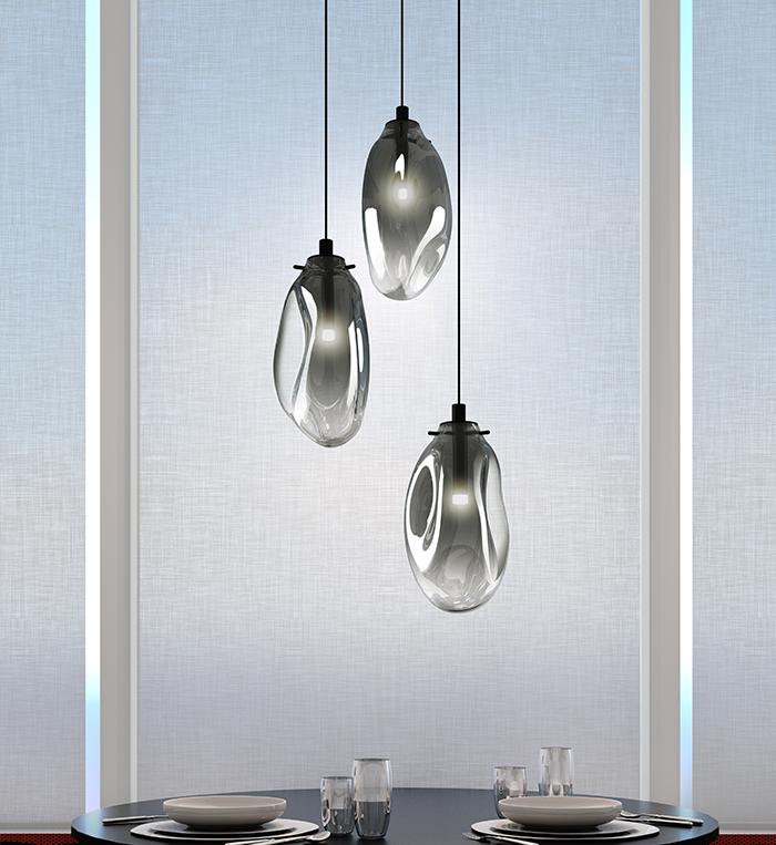 Sonneman Liquid LED Pendant Dining Room