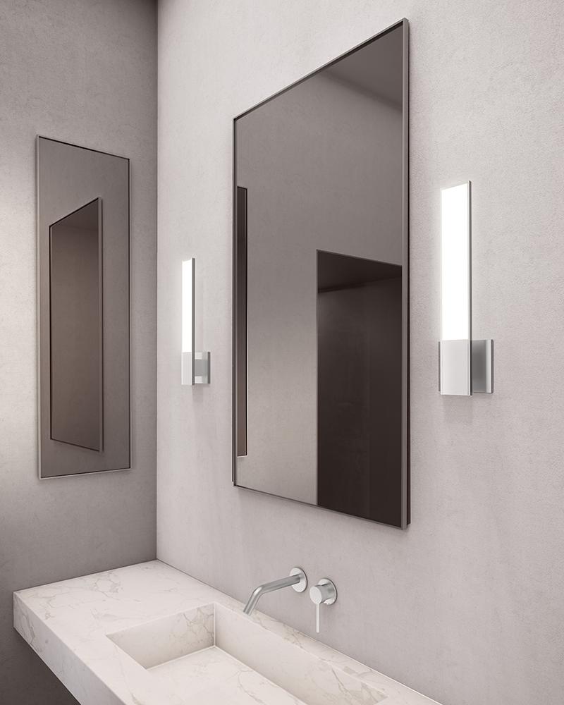 Sonneman Planes LED Sconce Bathroom