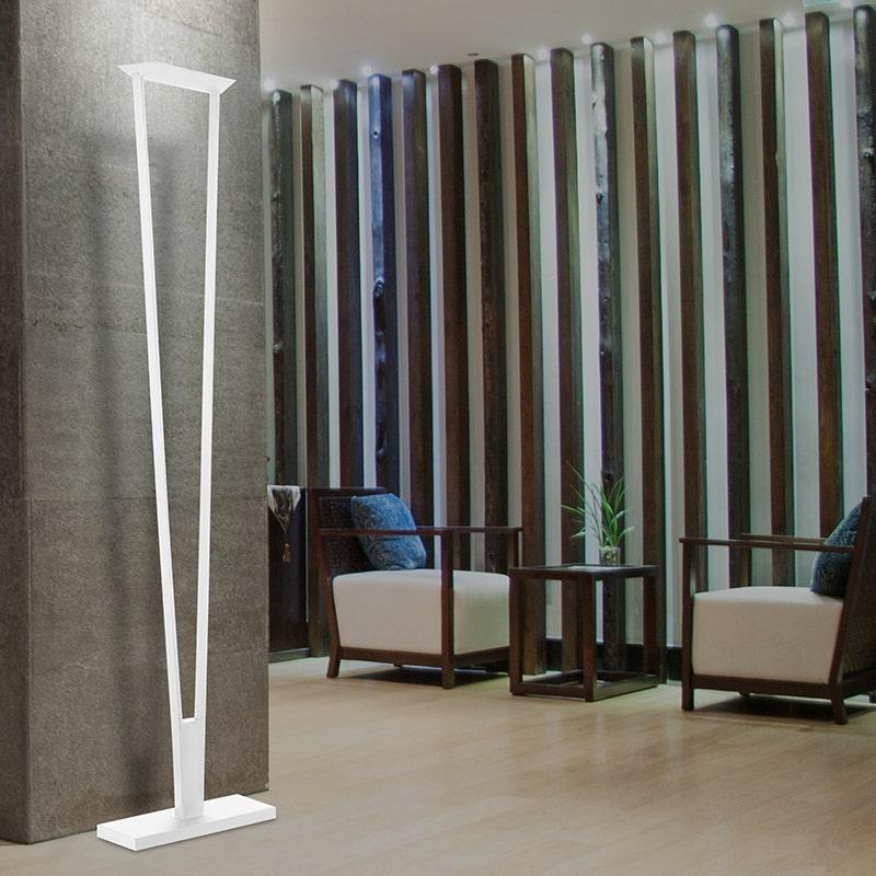 Sonneman V LED Torchiere Living Room
