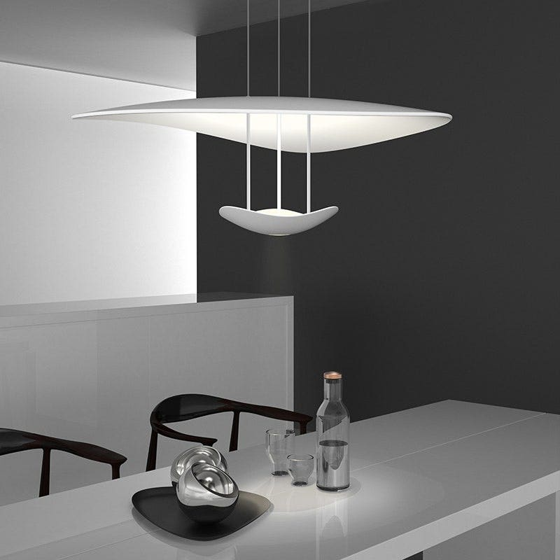Sonneman Infinity Reflections LED Pendant Dining Room