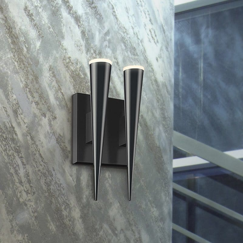 sonneman Micro Cone LED Double Sconce stairway