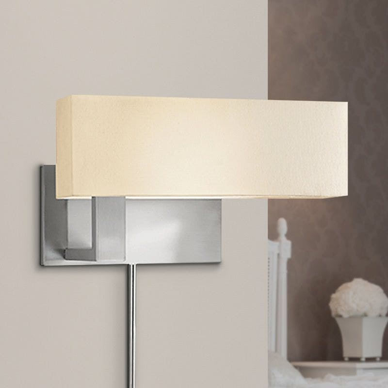 sonneman Mitra Compact Swing Left Wall Lamp bedroom