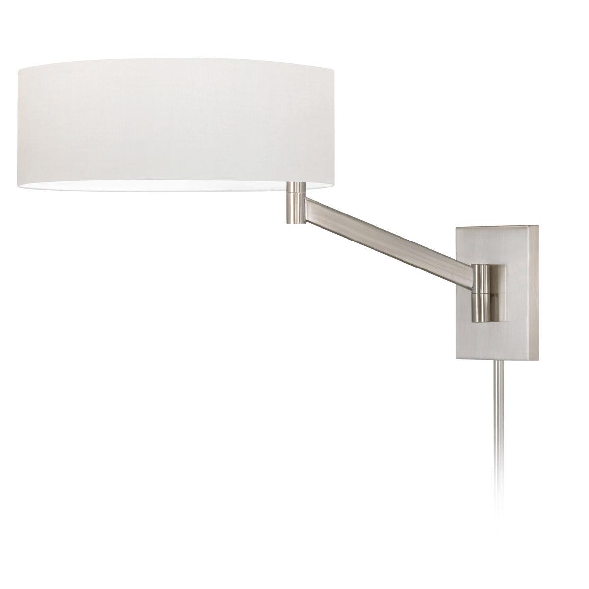 sonneman Perch Swing Arm Wall Lamp bedroom