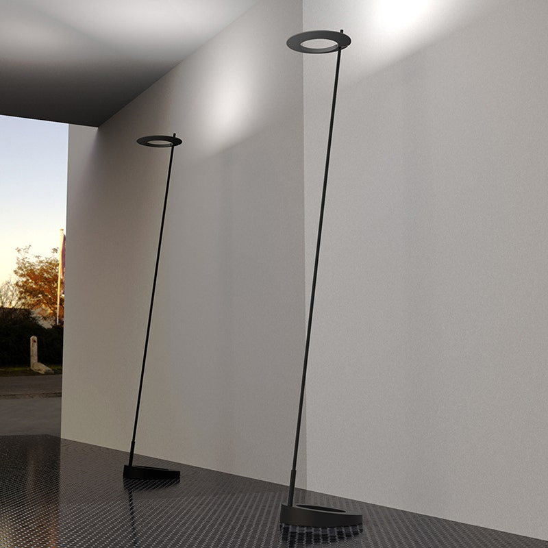 sonneman Ringlo LED Torchiere living room