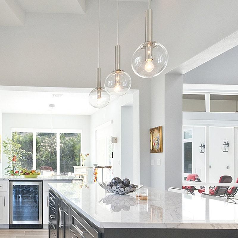 sonneman Bubbles Pendant kitchen
