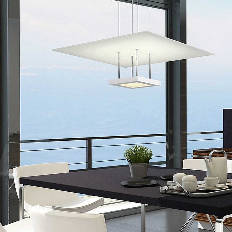 sonneman Chromaglo Bright White LED Pendant dining