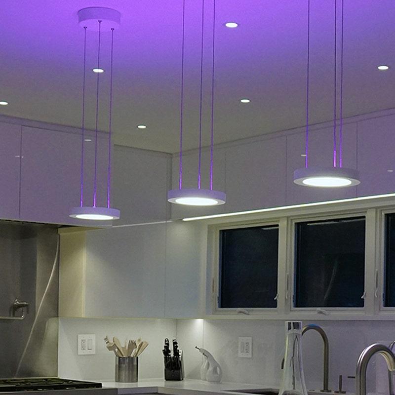 sonneman chromaglo spectrum led pendant kitchen