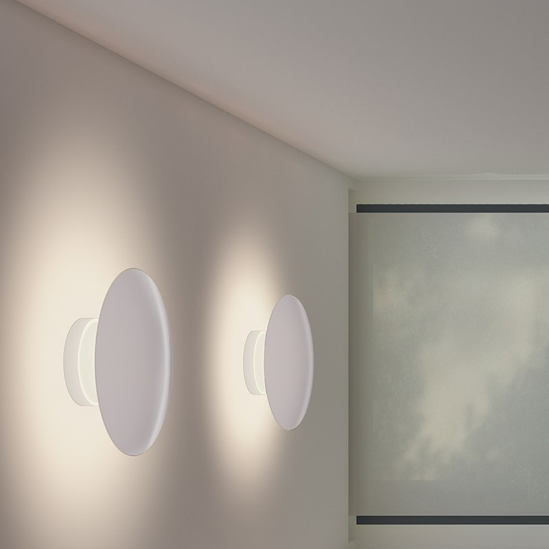 sonneman Fontanna Shield LED Sconce entry