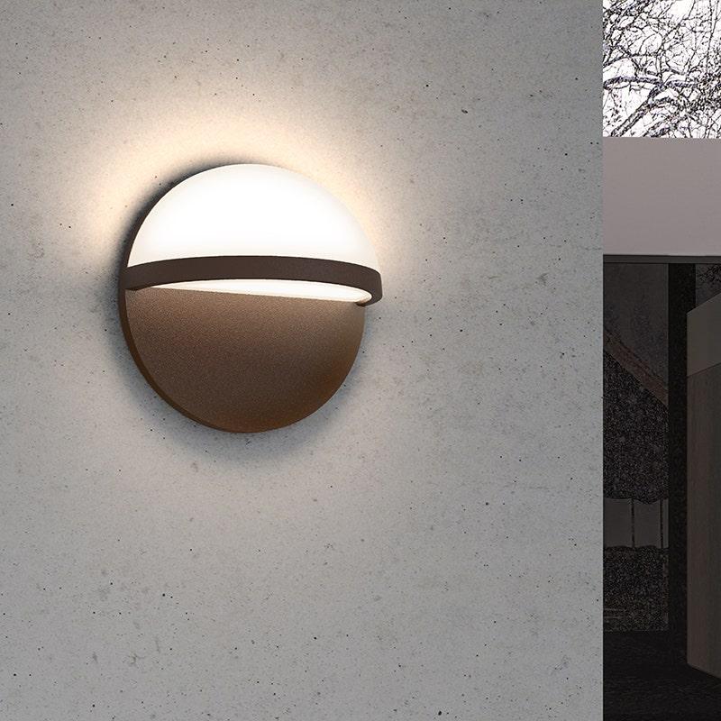 sonneman Mezza Cupola LED Sconce outdoor