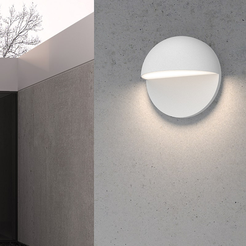 sonneman Mezza Vetro LED Sconce outdoor