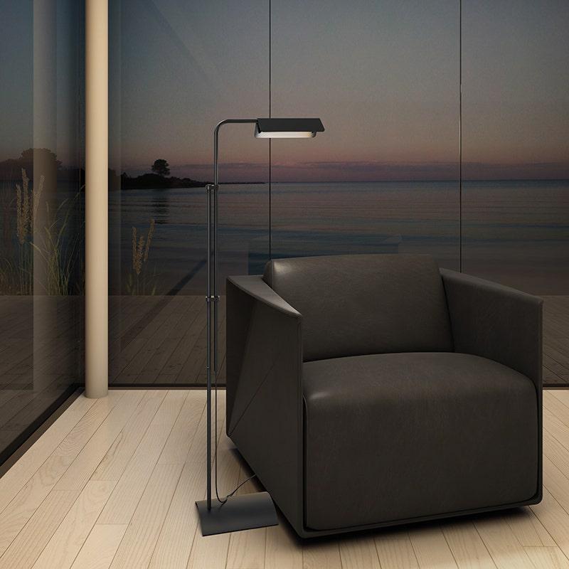 sonneman Morii LED Floor Lamp bedroom