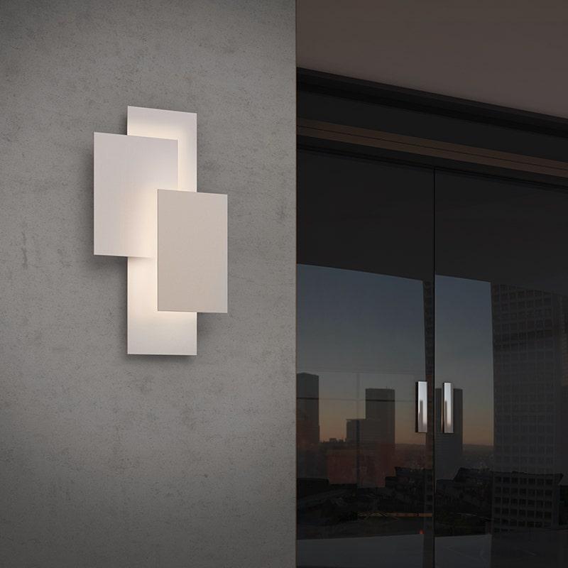 sonneman Offset Panels LED Sconce outdoor